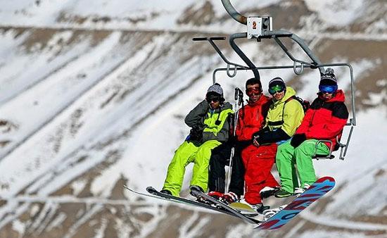 نمایی از پیست اسکی دربندسر