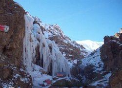 آخرهفته در آبشار یخی آبنیک + تصاویر