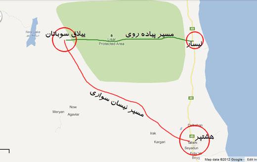 نقشه منطقه سوباتان