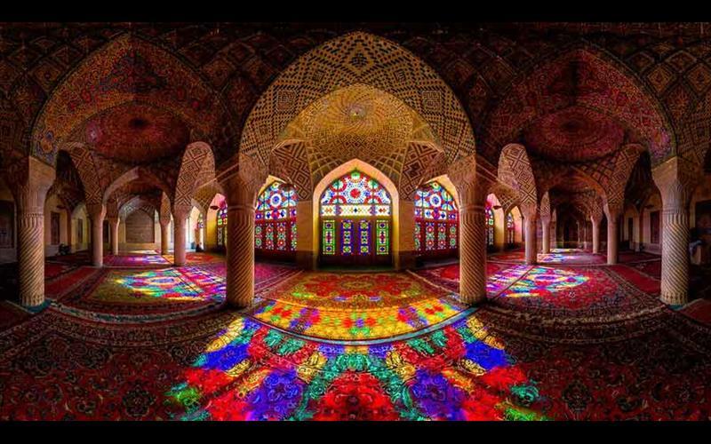 مسجد نصیرالملک شیراز از بزرگترین مساجد جهان اسلام
