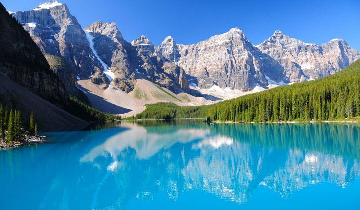 دریاچه مورین در کانادا - عکس زیباترین دریاچه های دنیا