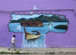 عکس هایی روستای هزار رنگ در چین (حتما ببینید!)