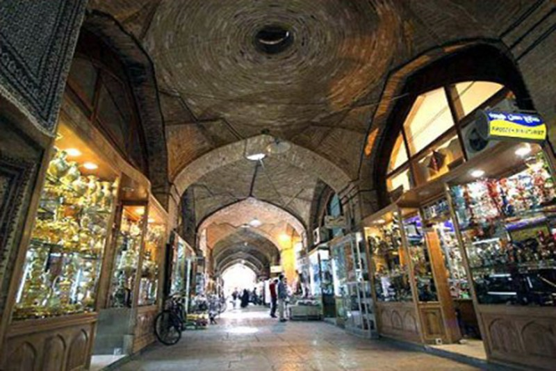 بازار قزوین یکی از اماکن ديدني قزوين