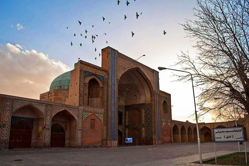 مسجد جامع قزوین از جاهای دیدنی قزوین