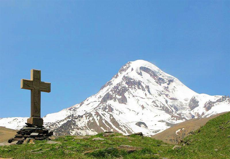 کوه قازبگی (Kazbek) [سفر به گرجستان از ارمنستان]