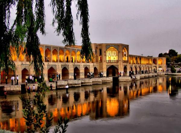 عکس پل خواجو در اصفهان