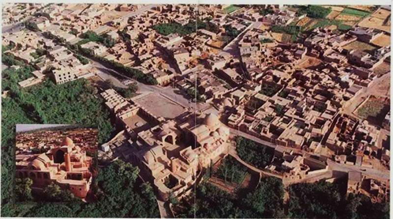 موقعیت مسجد جامع اردستان از بالا
