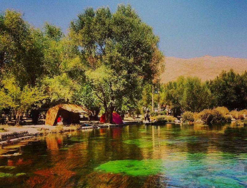 آب گوارا و طبیعت زیبای چشمه دیمه